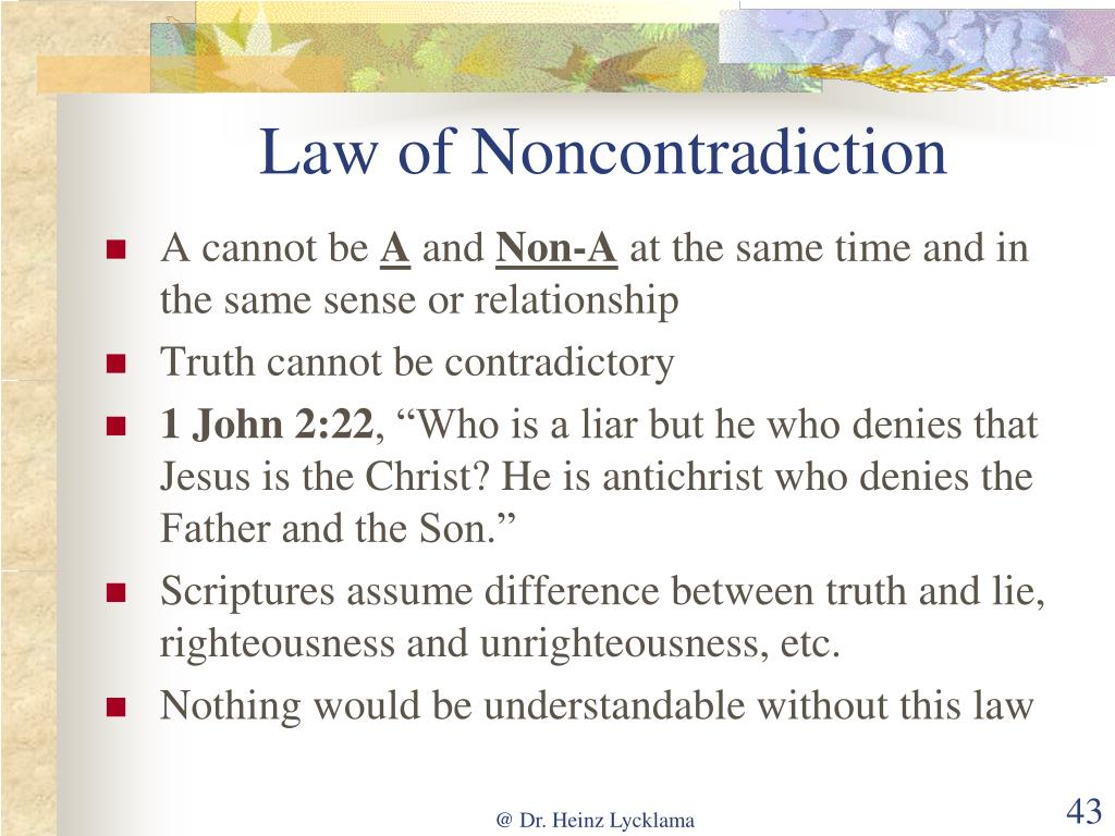 Law of Noncontradiction