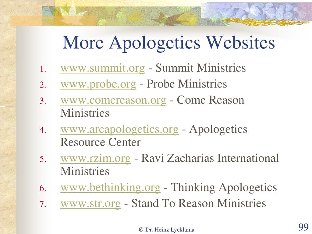 More Apologetics Websites