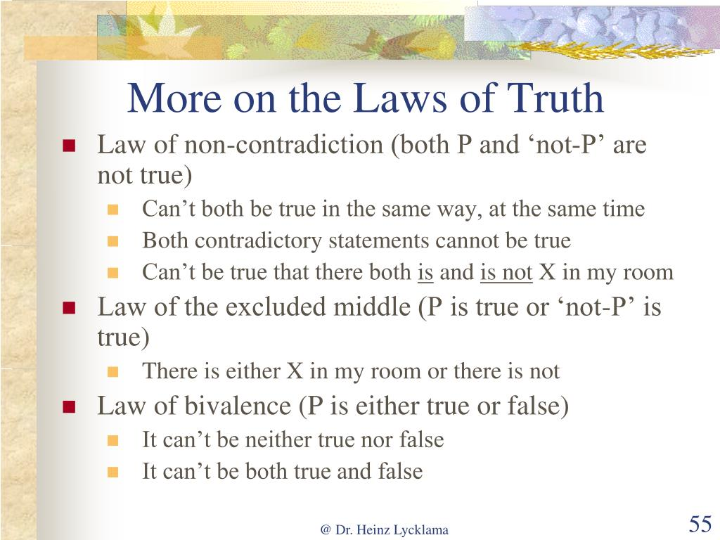 More on the Laws of Truth