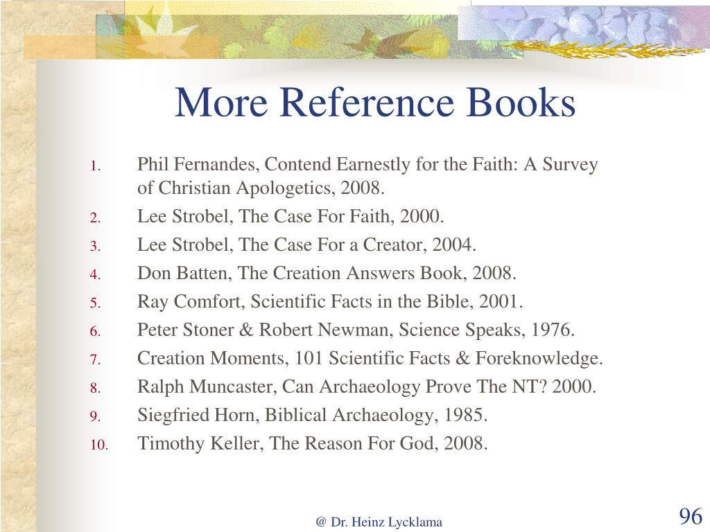 More Reference Books