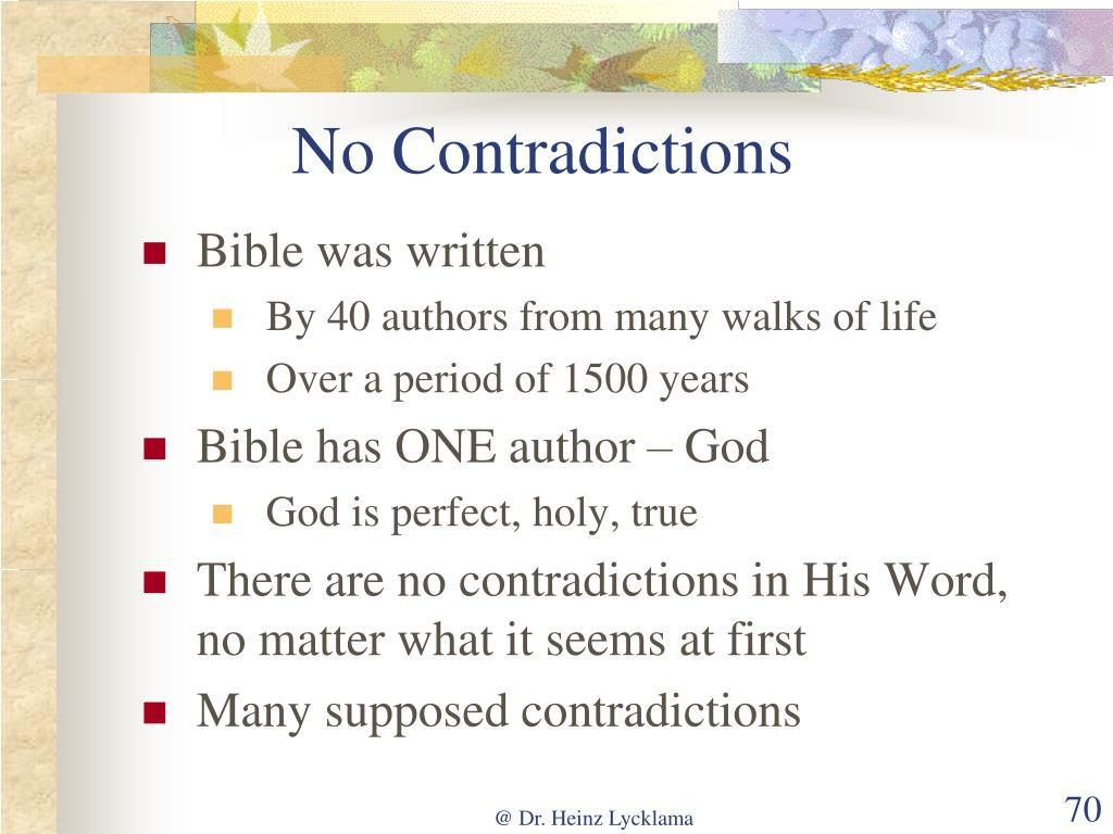 No Contradictions
