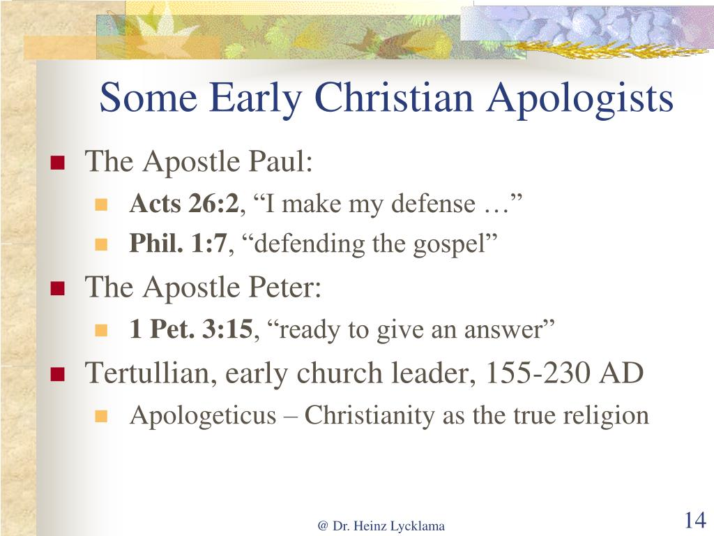 Some Early Christian Apologists