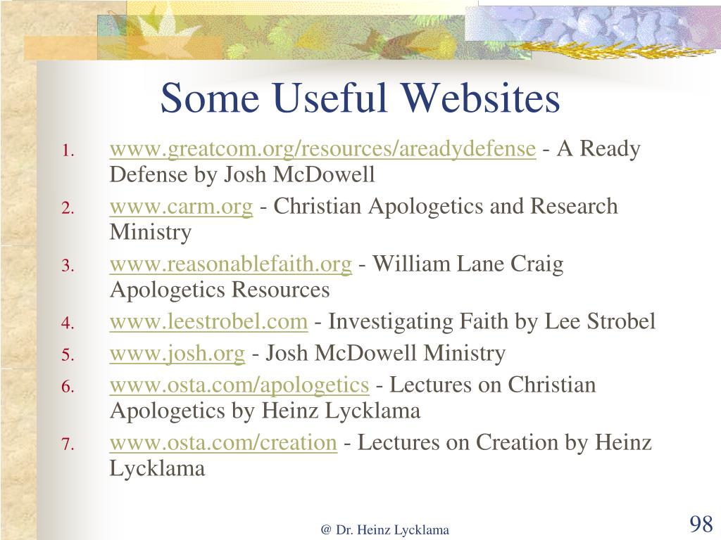 Some Useful Websites
