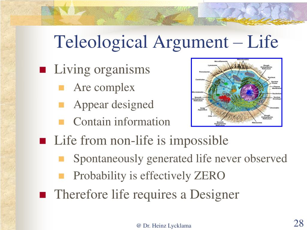 Teleological Argument – Life