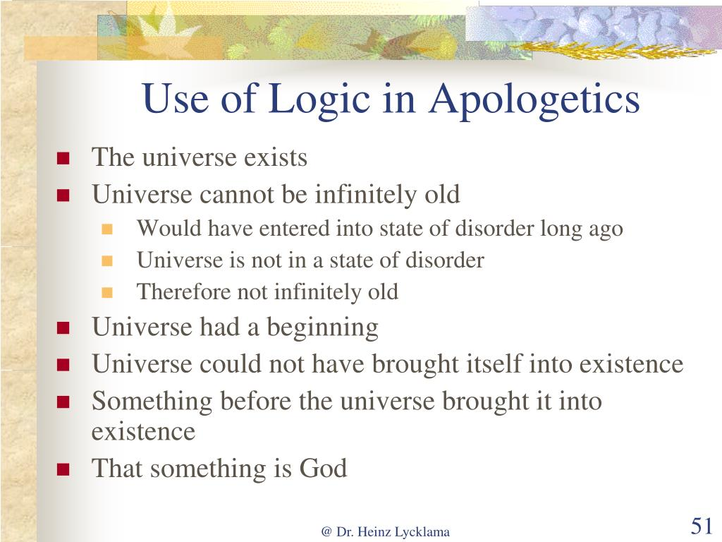 Use of Logic in Apologetics