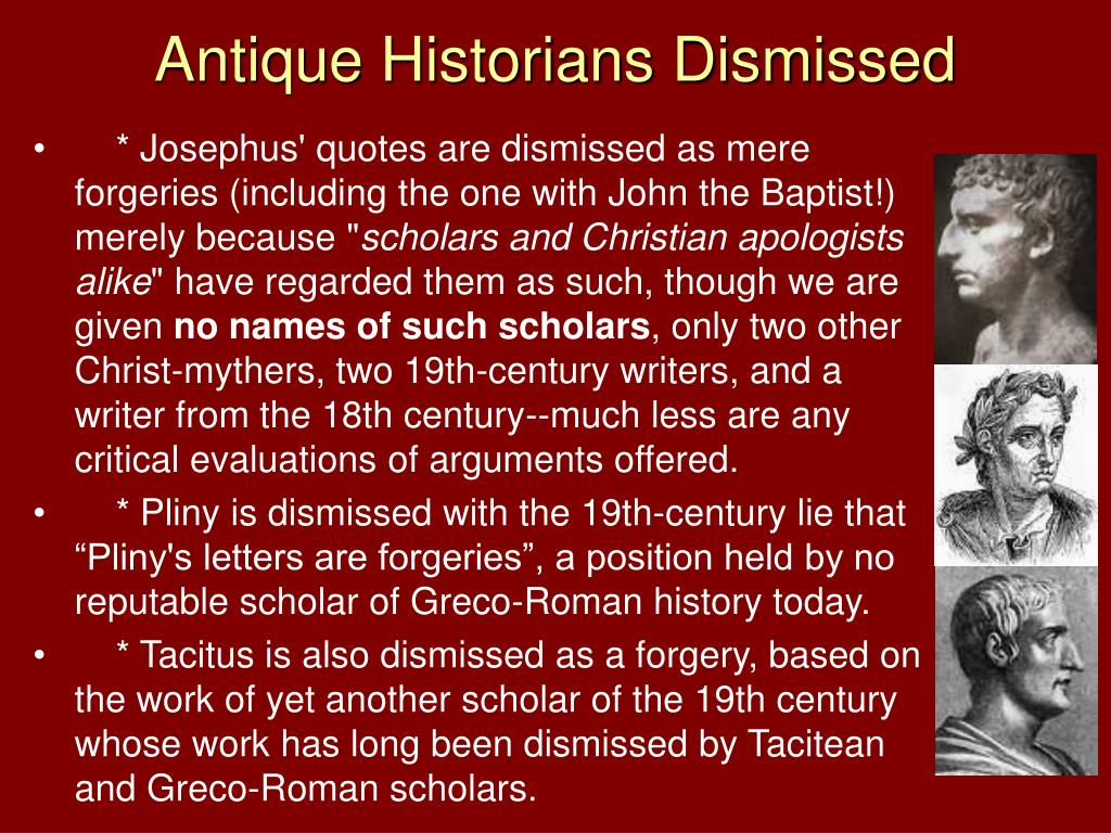 Antique Historians Dismissed