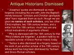 antique historians dismissed
