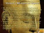 murdock is no expert on religions