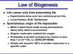 law of biogenesis