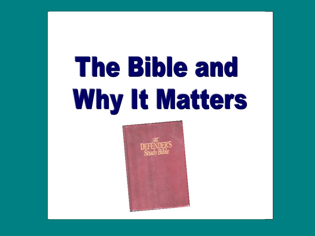 The Bible and