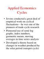 applied economics cycles