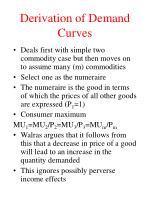 derivation of demand curves