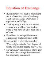 equation of exchange