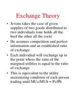 exchange theory16