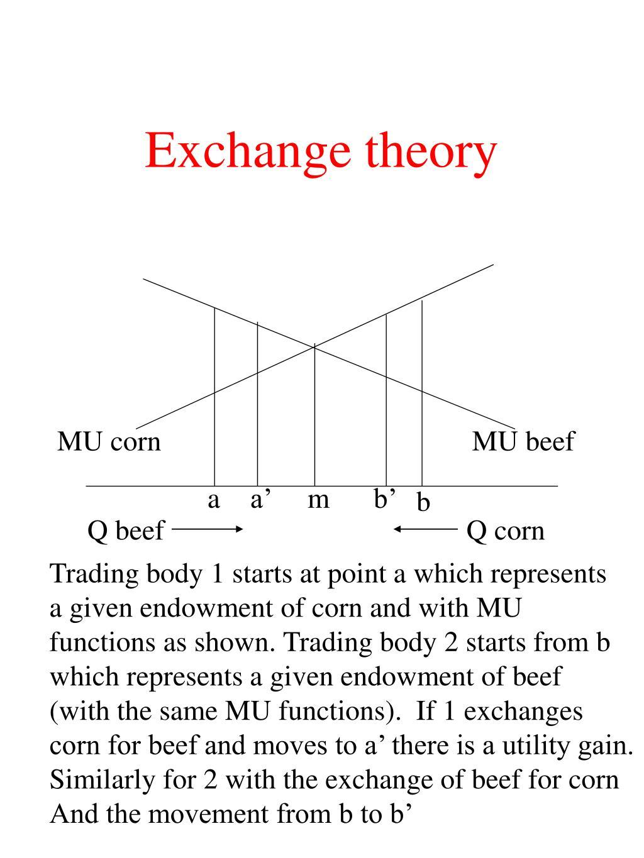 Exchange theory