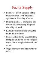 factor supply