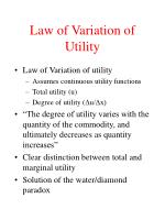 law of variation of utility