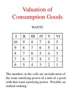 valuation of consumption goods5