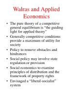 walras and applied economics