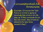 circumstantial ad hominem11