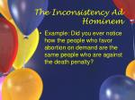 the inconsistency ad hominem8