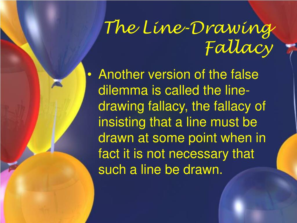The Line-Drawing Fallacy