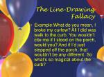 the line drawing fallacy33