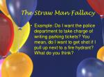 the straw man fallacy24