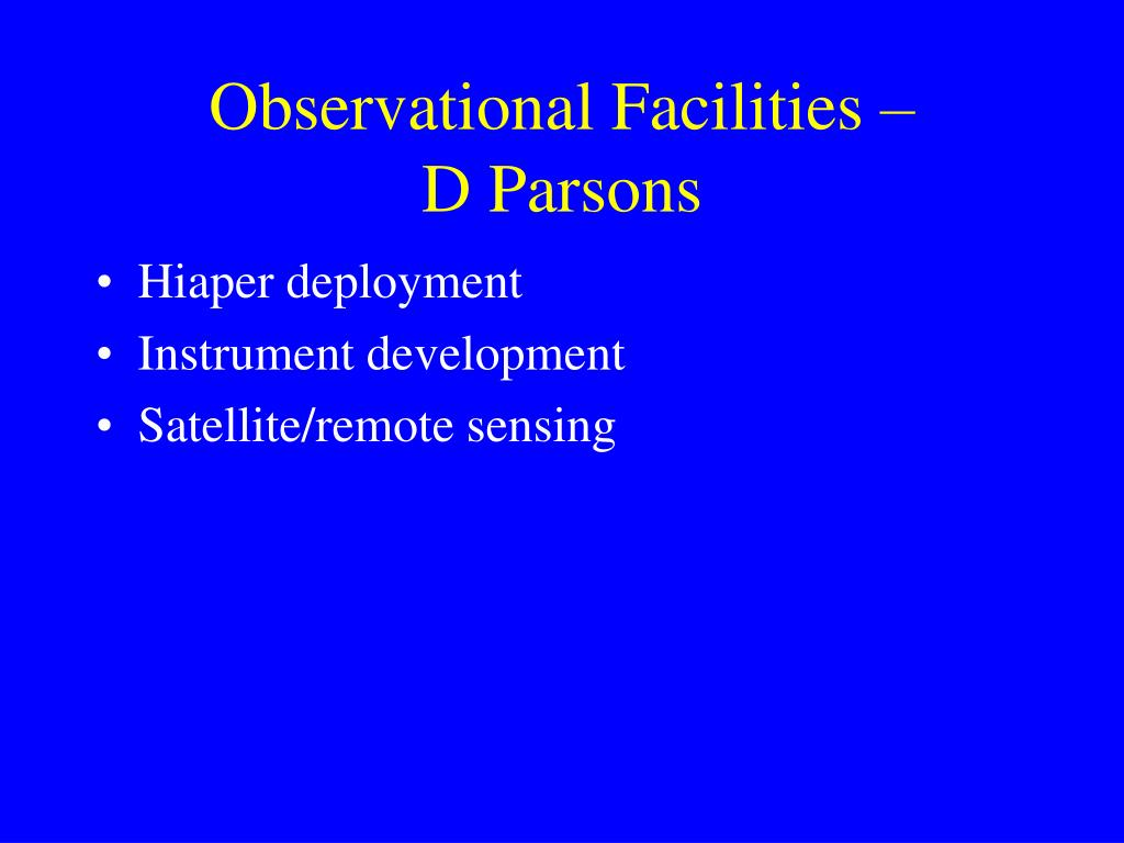 Observational Facilities –