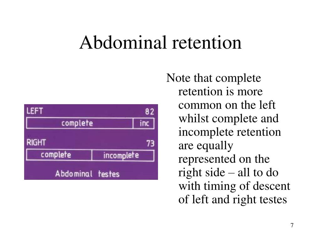 Abdominal retention