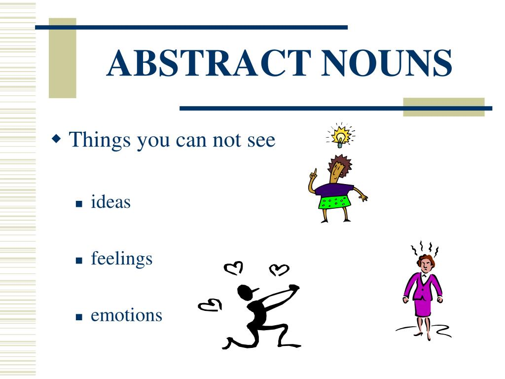 abstract noun Draw a picture - choose two abstract nouns and draw a picture to illustrate each make sure you write the noun in the box with your drawing.