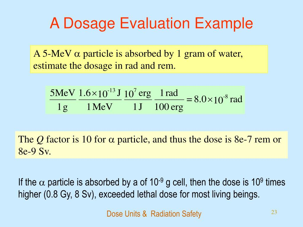 A Dosage Evaluation Example
