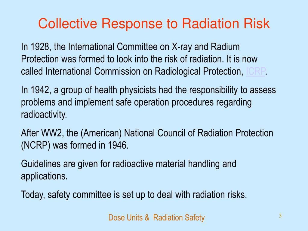Collective Response to Radiation Risk