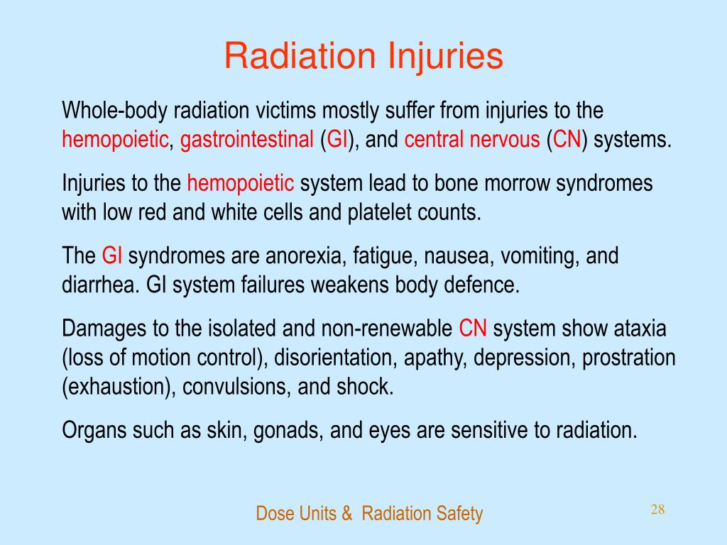 Radiation Injuries