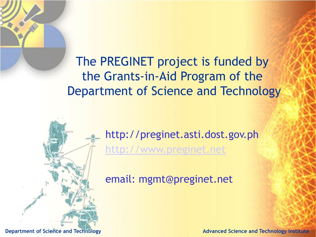The PREGINET project is funded by