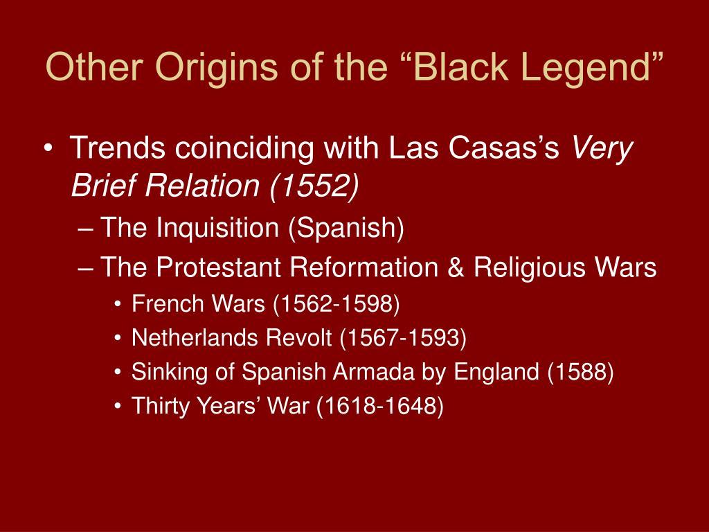 """Other Origins of the """"Black Legend"""""""