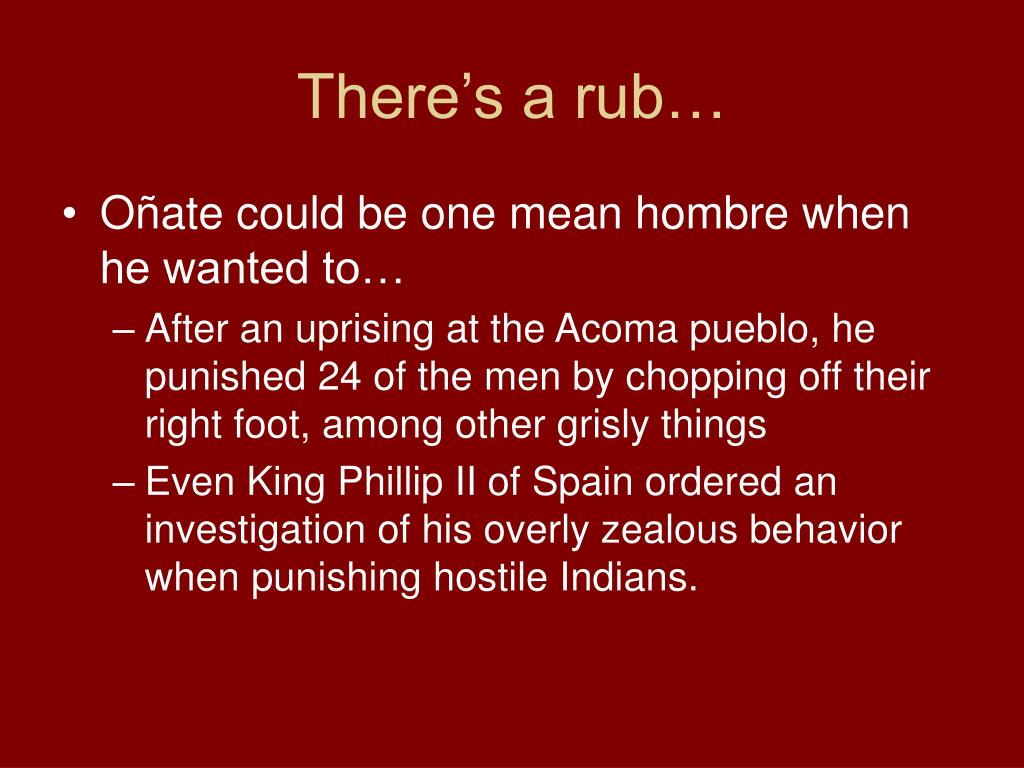 There's a rub…