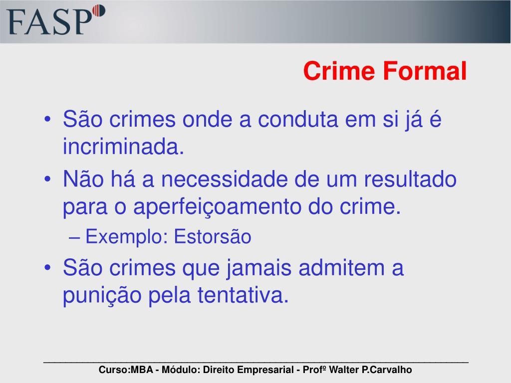 Crime Formal