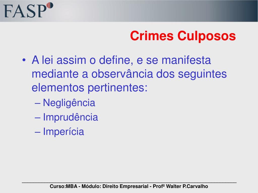Crimes Culposos