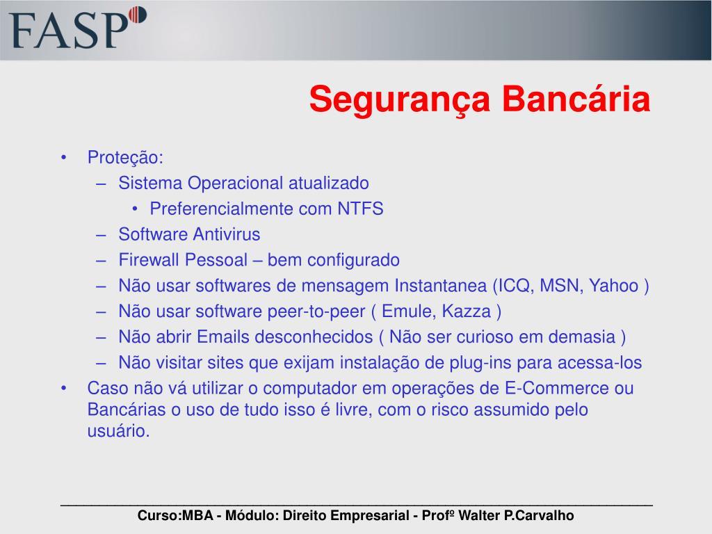 Segurança Bancária