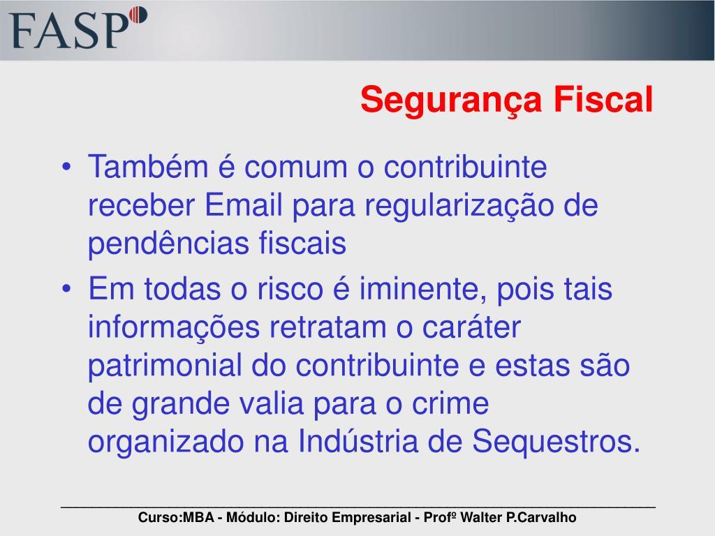 Segurança Fiscal