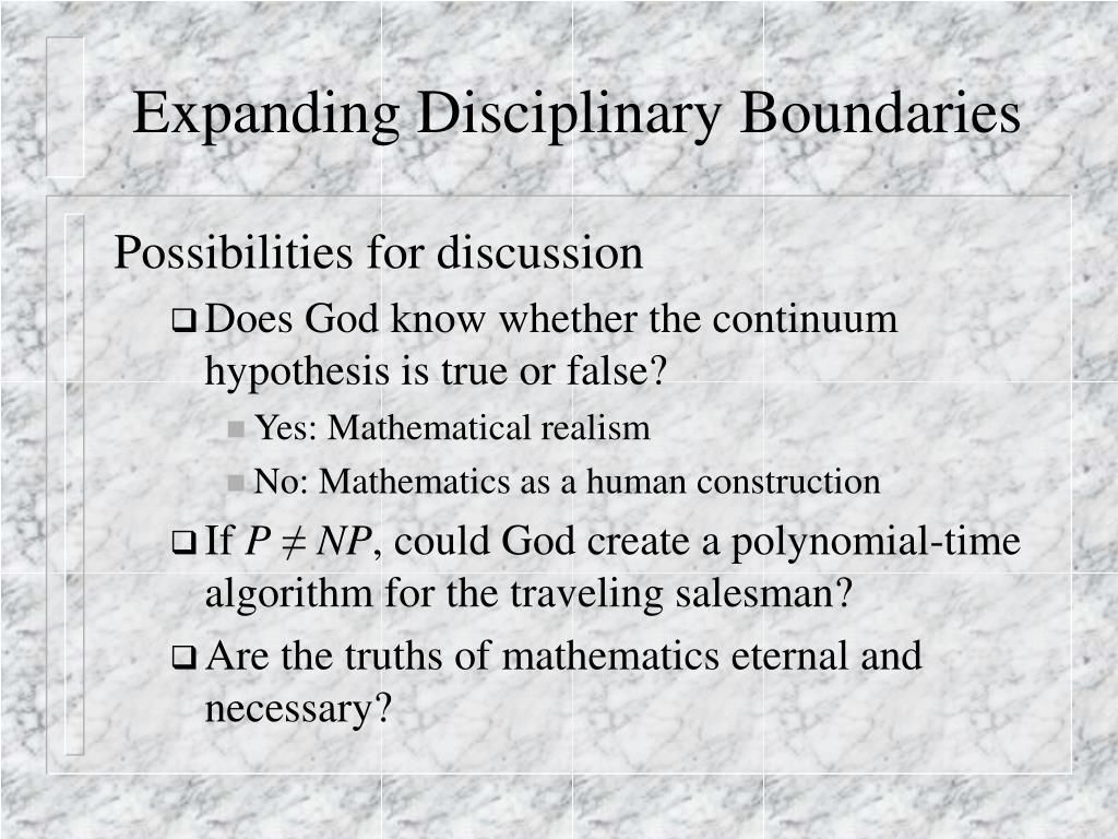 Expanding Disciplinary Boundaries