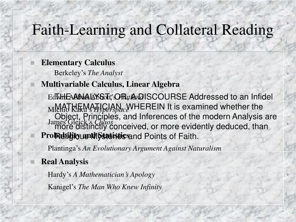Faith-Learning and Collateral Reading