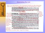 annotating the text
