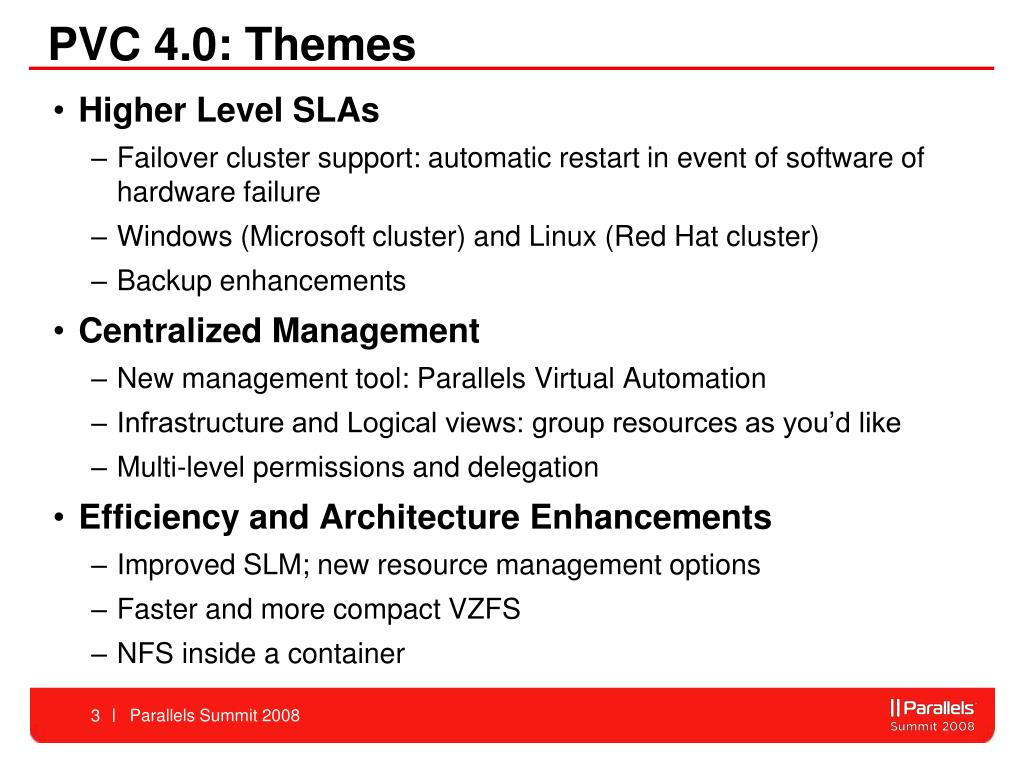 PVC 4.0: Themes