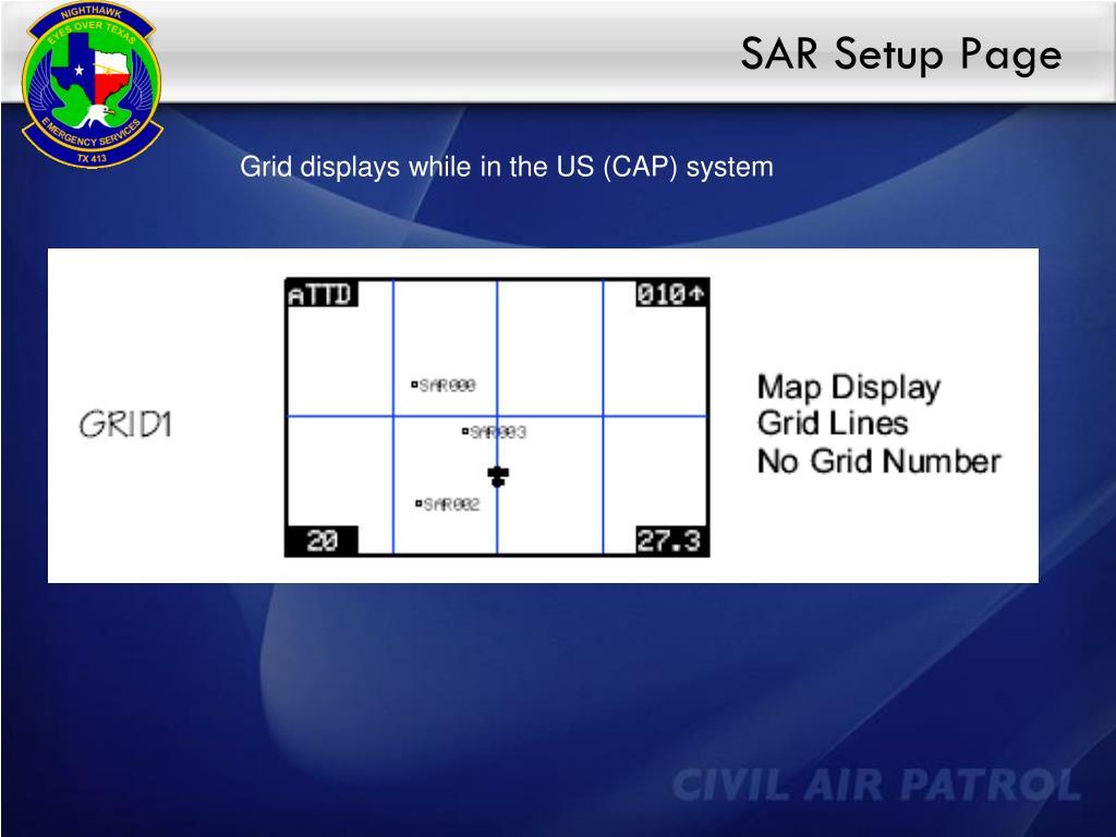 SAR Setup Page