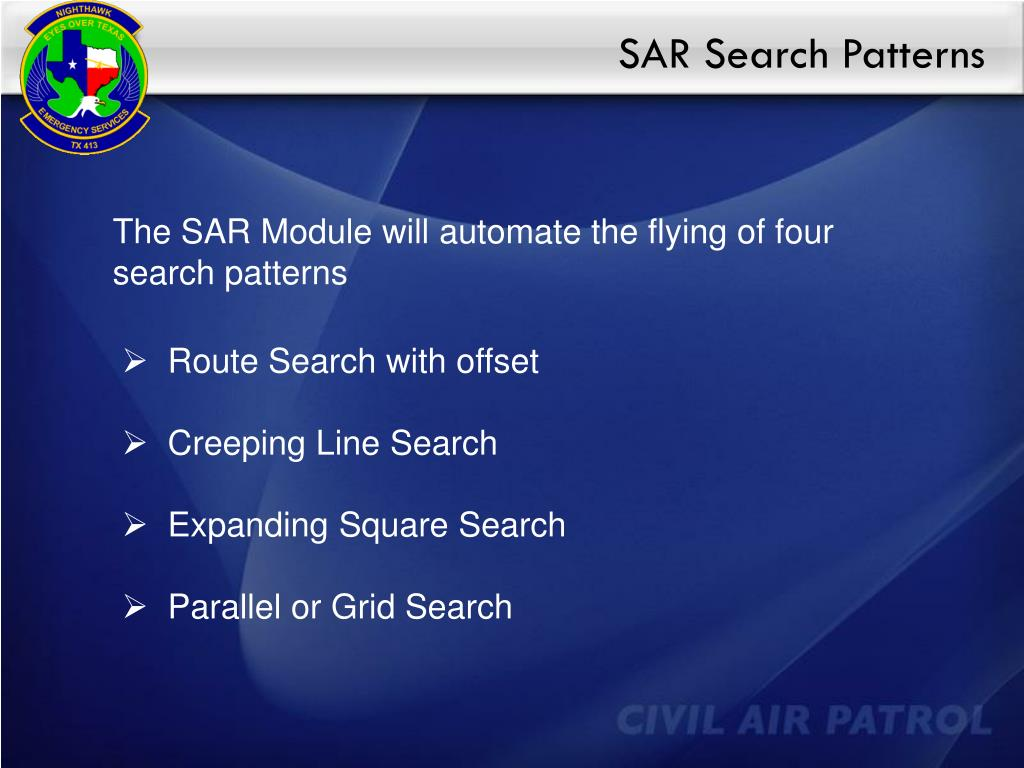 SAR Search Patterns