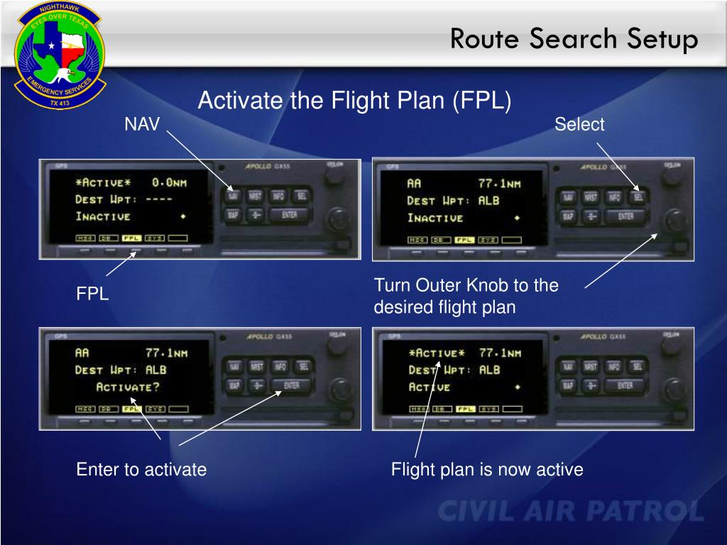 Route Search Setup