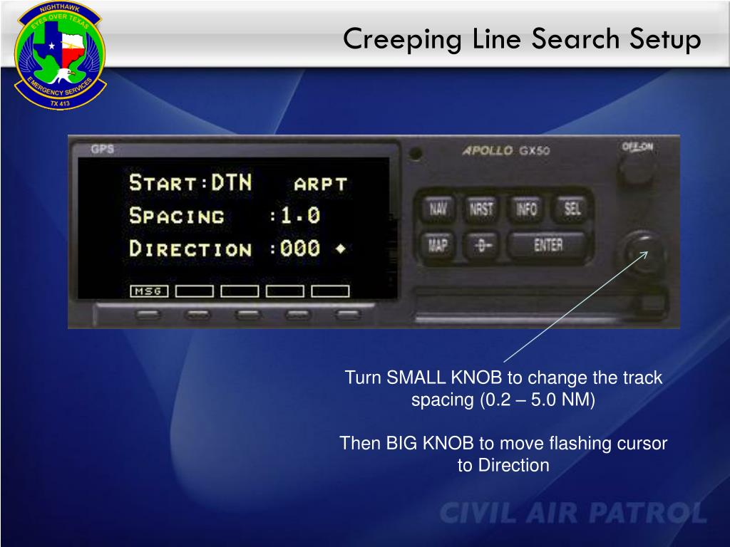 Creeping Line Search Setup