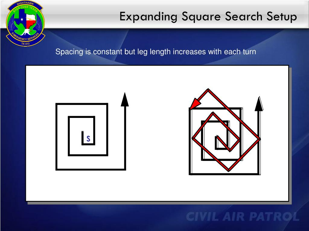 Expanding Square Search Setup